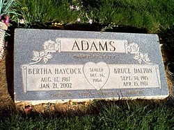 Bertha <i>Haycock</i> Adams