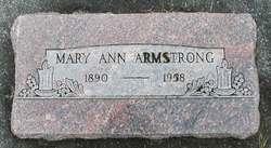 Mary Ann <i>Curley</i> Armstrong