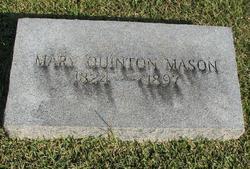 Mary Ann <i>Quinton</i> Mason