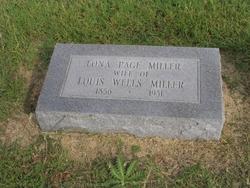 Sarah Delona Lona <i>Page</i> Miller