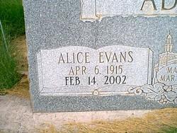 Alice <i>Evans</i> Adams
