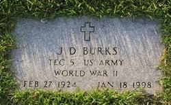 Sgt James D JD Burks