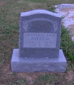 Martha Ann <i>Flake</i> Baucum