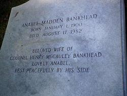 Anabel Martha Anna <i>Madden</i> Bankhead