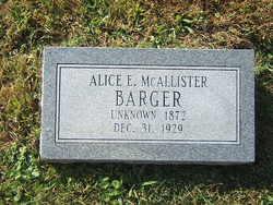 Alice E. <i>McAllister</i> Barger