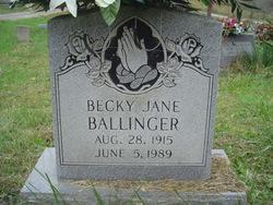 Becky Jane <i>Northern</i> Ballinger