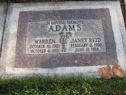 Janet <i>Reid</i> Adams