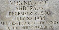 Virginia Elizabeth <i>Long</i> Anderson