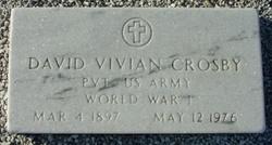 Pvt David Vivian Crosby