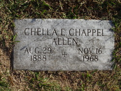 Chella E. <i>Chappel</i> Allen