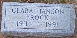 Clara Esther <i>Hanson</i> Brock