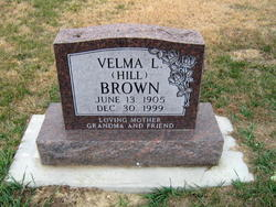 Velma L <i>Hill</i> Brown