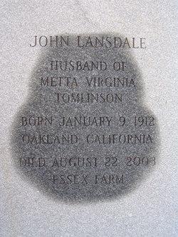 John Mannen Jack Lansdale, Jr