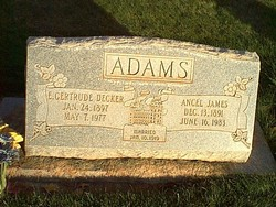 Elizabeth Gertrude <i>Decker</i> Adams