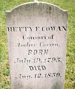 Esther F Hetty <i>Houston</i> Cowan
