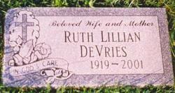 Ruth Lillian <i>Hoekstra</i> DeVries