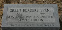 Green Borders Evans