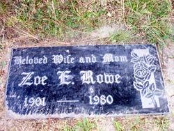 Zoa Elizabeth <i>DeGraffenried</i> Rowe