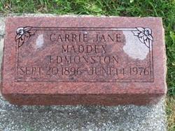Carrie Jane <i>Maddox</i> Edmonston
