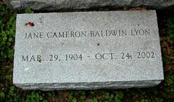 Jane <i>Cameron</i> Baldwin Lyon