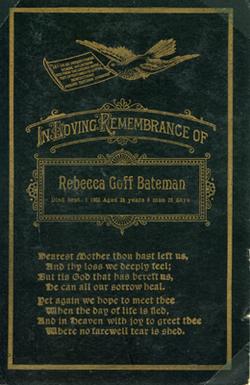 Rebecca Becky <i>Goff</i> Bateman