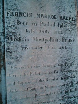 Capt Francis Markoe Bache