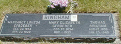 Mary Elizabeth <i>Gfroerer</i> Bingham