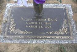 Virginia <i>Thompson</i> Boston