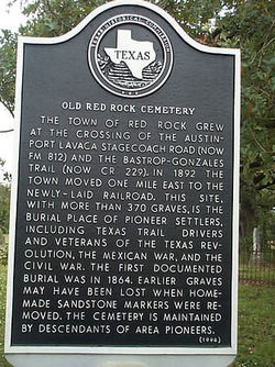 Old Red Rock Cemetery