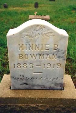 Minnie Bell <i>Wall</i> Bowman