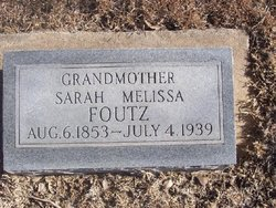 Sarah Melissa Foutz