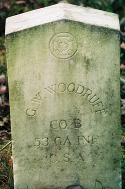 Pvt George W Woodruff
