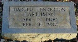 Harold Henderson Earthman, Sr