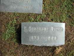 E Gertrude Bates