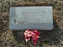 Bertram (Shorty) Bowd