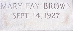 Mary Fay Brown