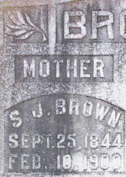 Sarah J <i>Kitchens</i> Brown