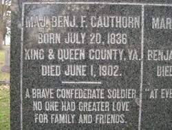 Maj Benjamin F. Cauthorn