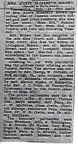 Annie Elizabeth <i>Gwyn</i> Brown