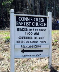 Conns Creek Baptist Church Cemetery