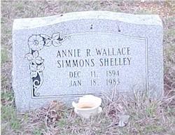 Annie Rebecca <i>Wallace</i> Shelley