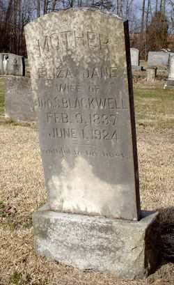 Eliza Jane <i>Jarrell</i> Blackwell