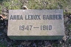 Anna <i>Lenox</i> Barber
