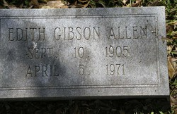 Edith <i>Gibson</i> Allen
