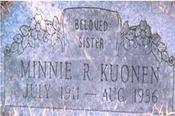 Minnie R Kuonen