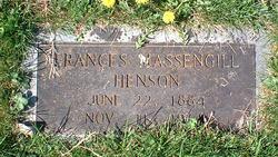 Frances <i>Massengill</i> Henson