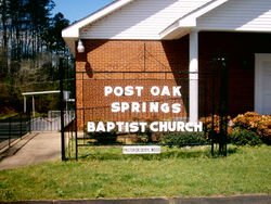 Post Oak Springs Baptist Church Cemetery