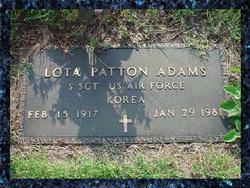Sgt Lota Mae <i>Patton</i> Adams