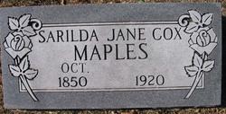 Sarilda Jane <i>Cox</i> Maples