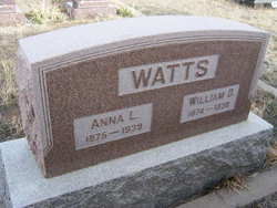 Anna Laura <i>Brazelton</i> Watts
